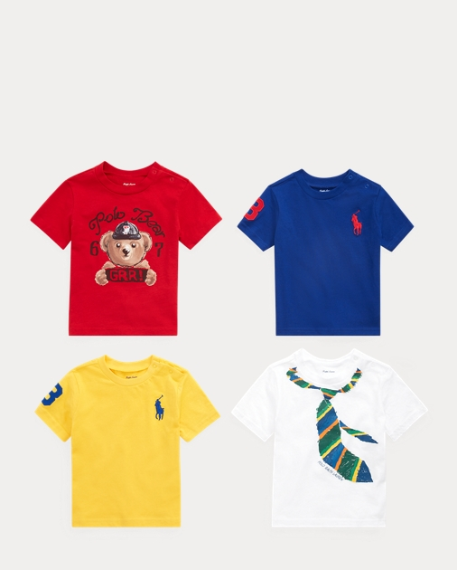 Baby Boy Graphic Tee 4-Piece Gift Set 2