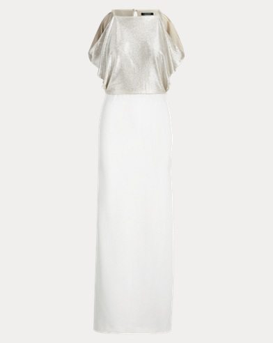 Shimmer Crepe Gown