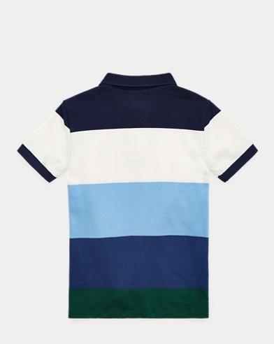 5b5586a67feeb Striped Cotton Mesh Polo Shirt. Take ...