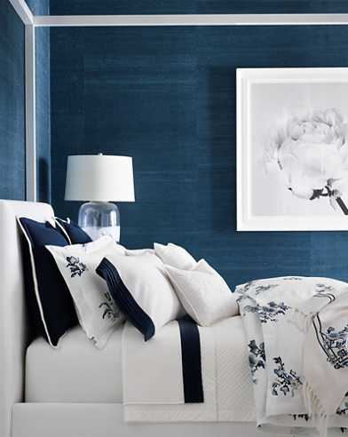 Blanc Bleu Bedding Collection