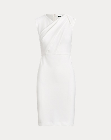 Ruched Crepe Dress