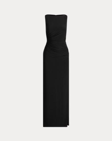 Jersey-Abendkleid mit Strass