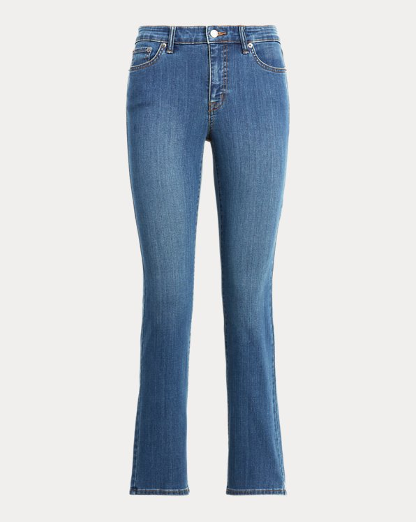 Jeans Straight de tiro medio
