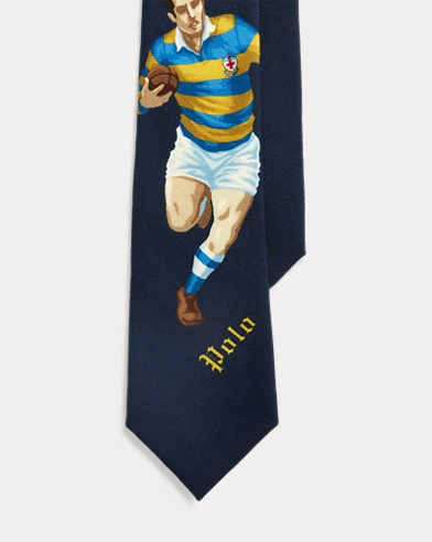 Rugby Player Wool Tie