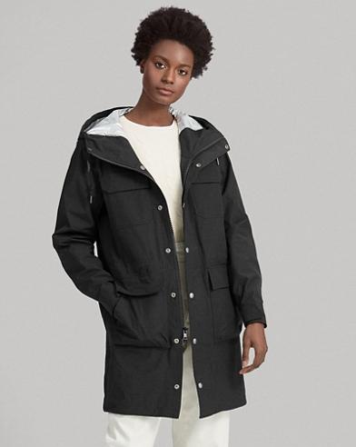 Water-Repellent Hooded Coat