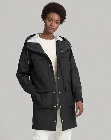Water-Repellent Hooded Coat