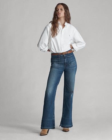 Jeans scampanati stretch