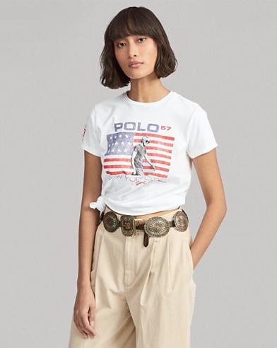 Camiseta de punto con gráfico de logotipo