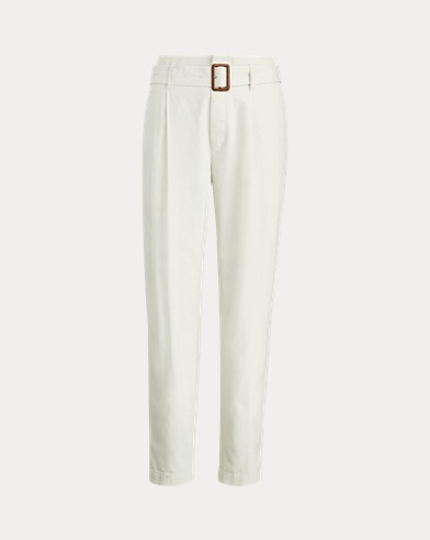 Paperbag Cotton Chino Pant