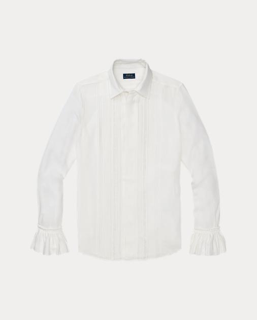 dbc39bf3c Polo Ralph Lauren Inset-Lace Silk Shirt 2