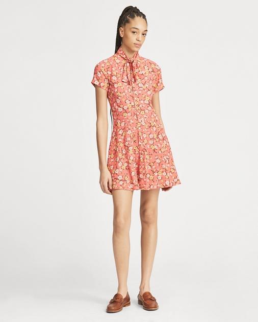 0d0d6b13a7cd Polo Ralph Lauren Necktie Fit-and-Flare Dress 1