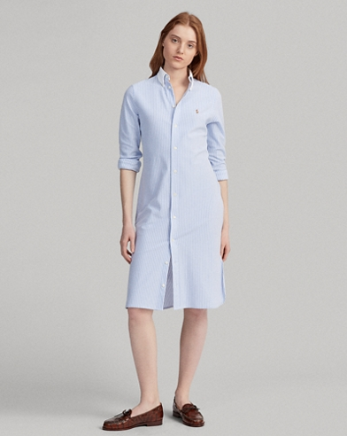 2b94af9d694 Striped Oxford Shirtdress