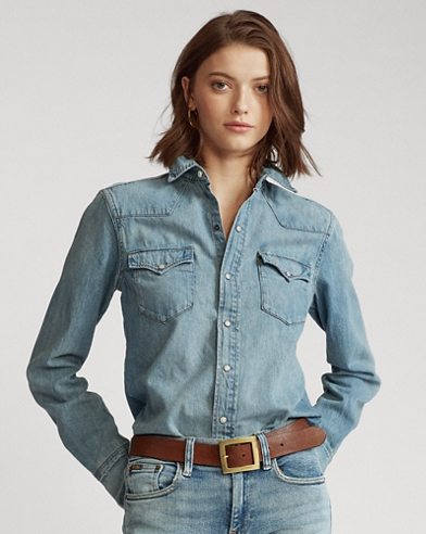 Camicia Western in denim premium