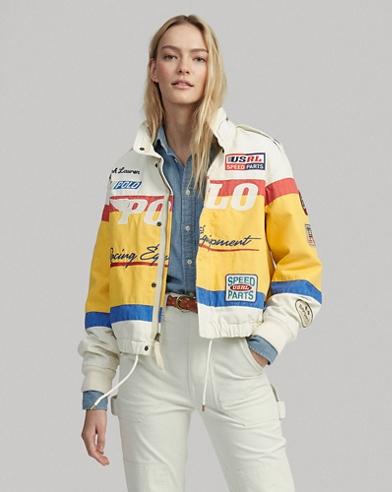 Cotton Canvas Racing Jacket