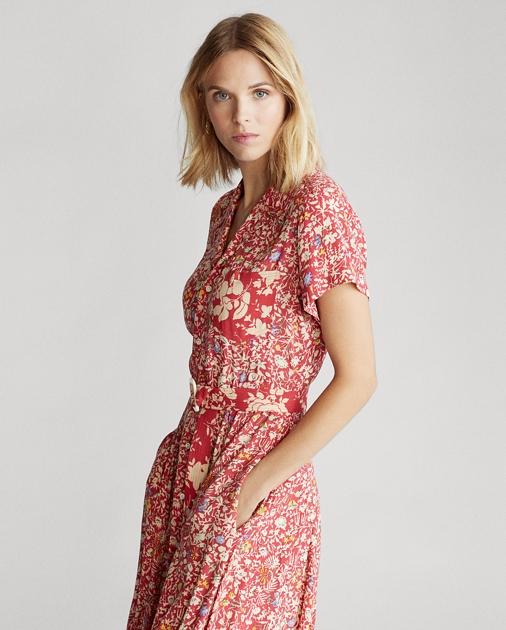 data di rilascio: ultimo sconto quantità limitata Floral Fit-and-Flare Dress