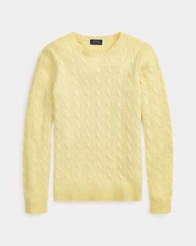 2fcfb2720 Cable-Knit Cashmere Sweater. Polo Ralph Lauren