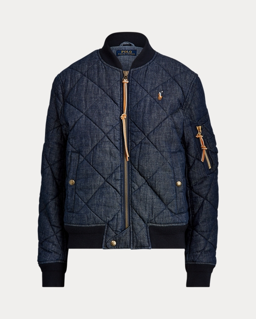 Polo Ralph Lauren Quilted Denim Bomber Jacket 2