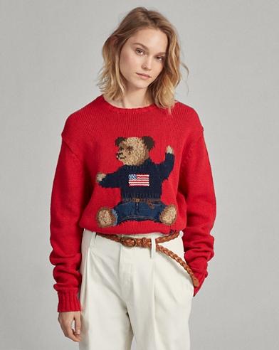 Polo Bear Cotton-Linen Jumper