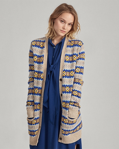 Fair Isle Boyfriend Cardigan