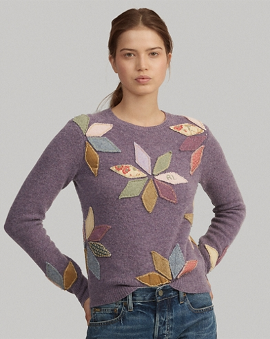 Wool-Blend Patchwork Sweater