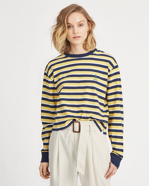 Polo RalphLauren Striped Jersey Crewneck Tee