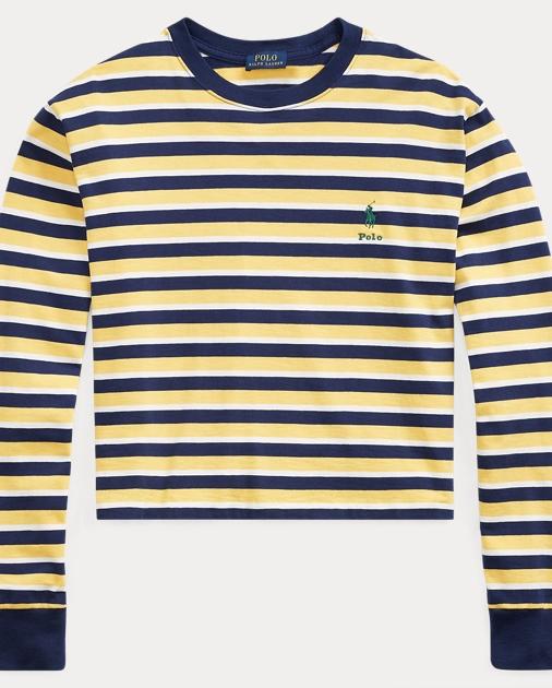 Tee Striped Striped Crewneck Jersey Jersey wuTPZiOkX
