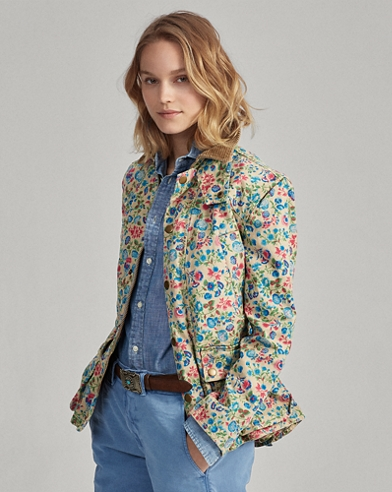 Floral Canvas Barn Jacket
