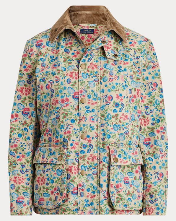 Floral Canvas Barn Jacket