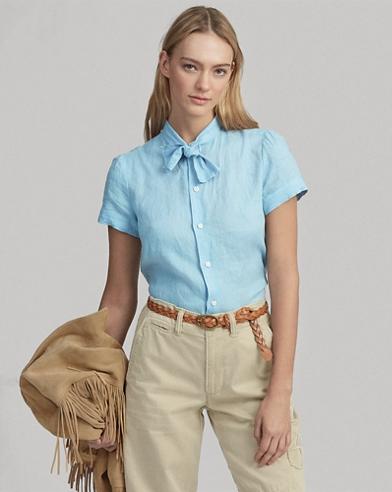 Necktie Linen Shirt