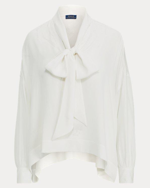 Necktie Silk Georgette Shirt