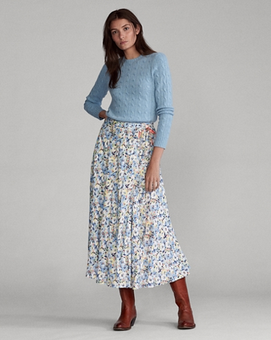 Maxi jupe fleurie réversible