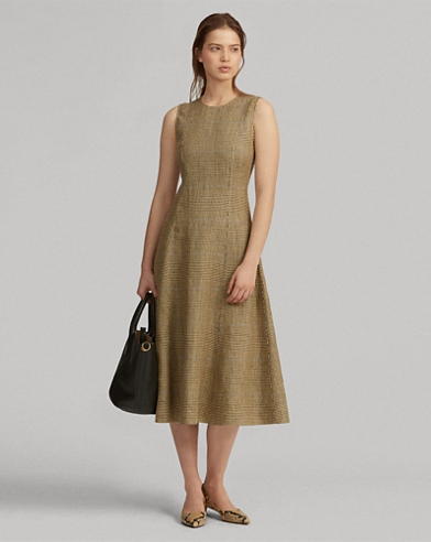 Glen Plaid Tweed Dress