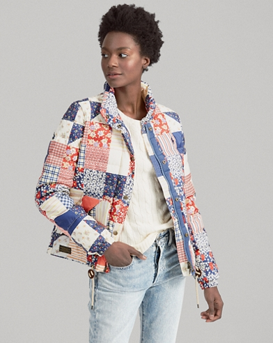 Patchwork Quilted Down Jacket