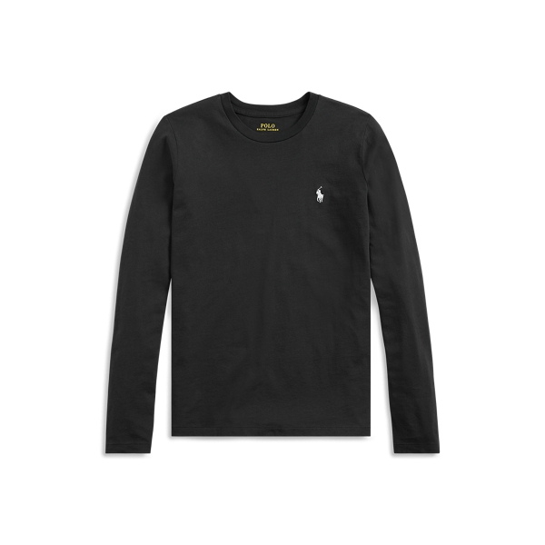 폴로 랄프로렌 Polo Ralph Lauren Jersey Long Sleeve Shirt,Polo Black