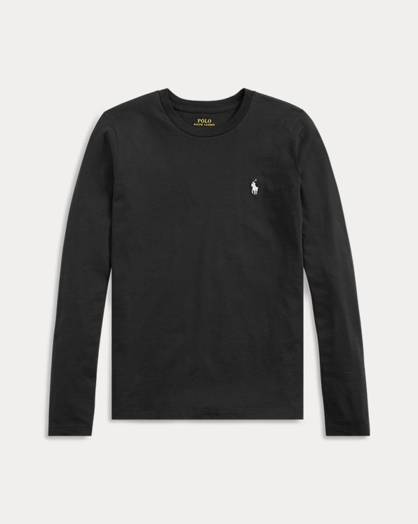 Langärmliges Jerseyhemd