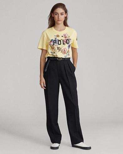 T-shirt en jersey fleuri Polo