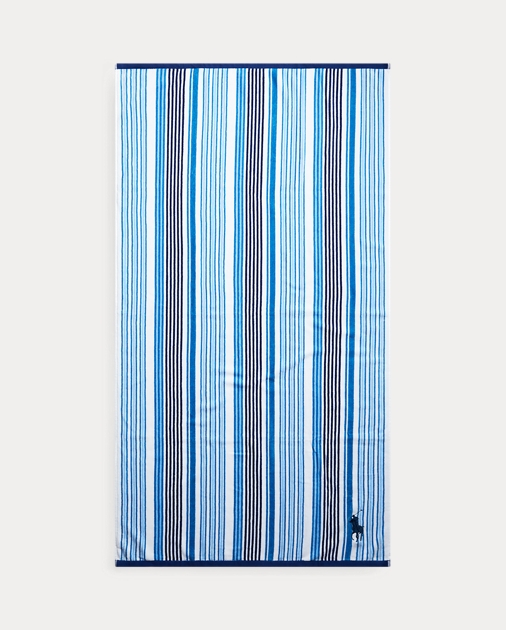 Pacific Polo Club Green White Strip 30X60 Cabana Pool Beach Towel