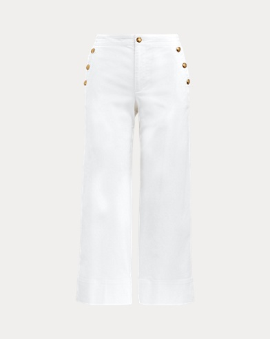 Cotton-Blend Twill Pant