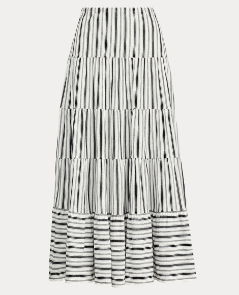 Striped Jersey Peasant Skirt