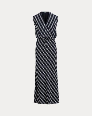 Striped Georgette Maxidress