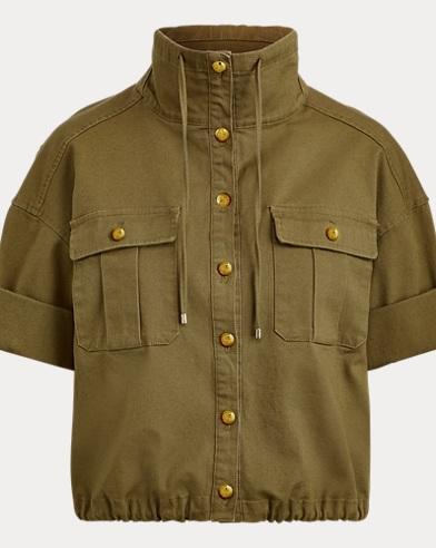 Cotton Canvas Drawcord Jacket