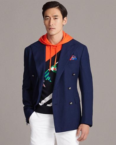 Wool-Cashmere Twill Blazer