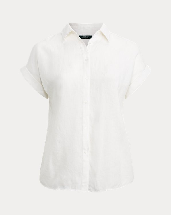 Chemise en lin à manches courtes