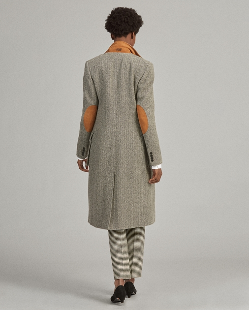 fresh styles new arrive best cheap Herringbone Wool-Blend Coat