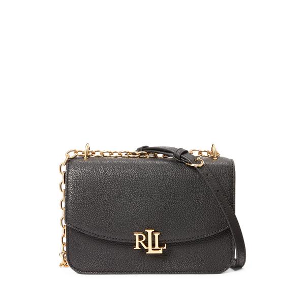 폴로 랄프로렌 Polo Ralph Lauren Leather Madison Crossbody Bag,Black