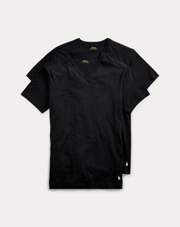 Lot de 2t-shirts col enV en coton