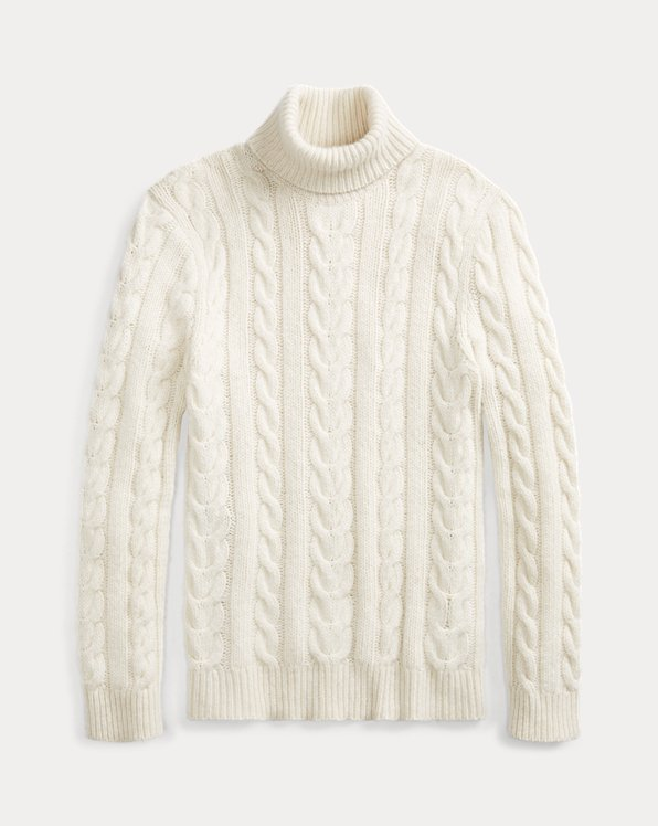 Hand-Knit Cashmere Turtleneck