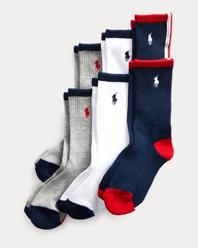 6e3ee45474 Boys' Socks - Crew, Ankle, & Dress Sizes 2-20   Ralph Lauren