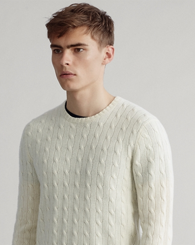 6cf62f5cc0af52 Cable-Knit Cashmere Sweater