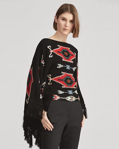Fringe-Trim Silk Sweater